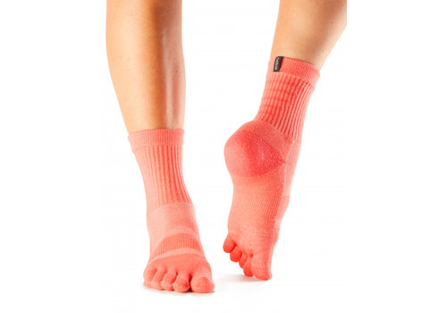 Toesox Casual Crew Coral