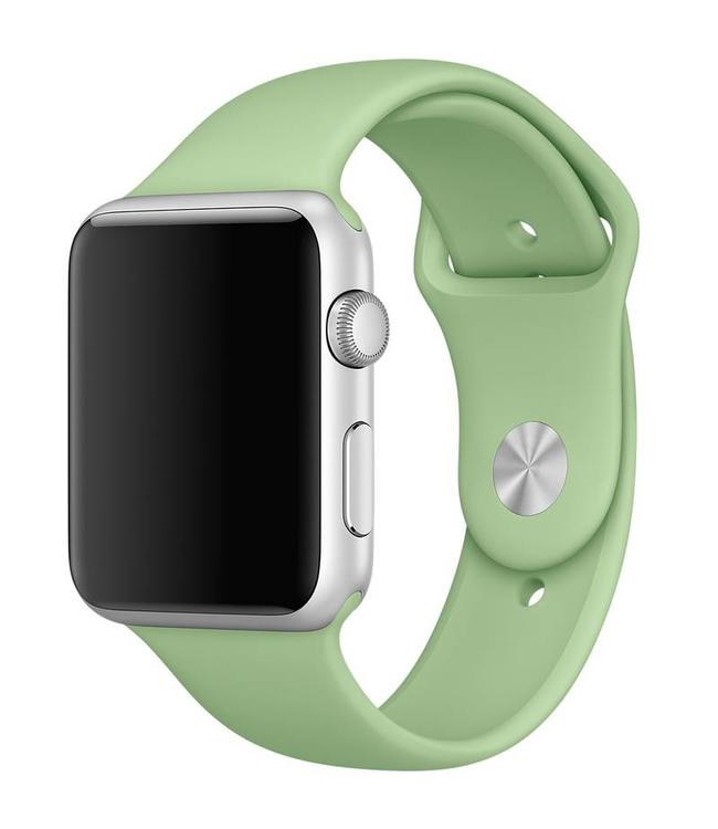 123Watches.nl 42mm Apple Watch mintgroen sport bandje