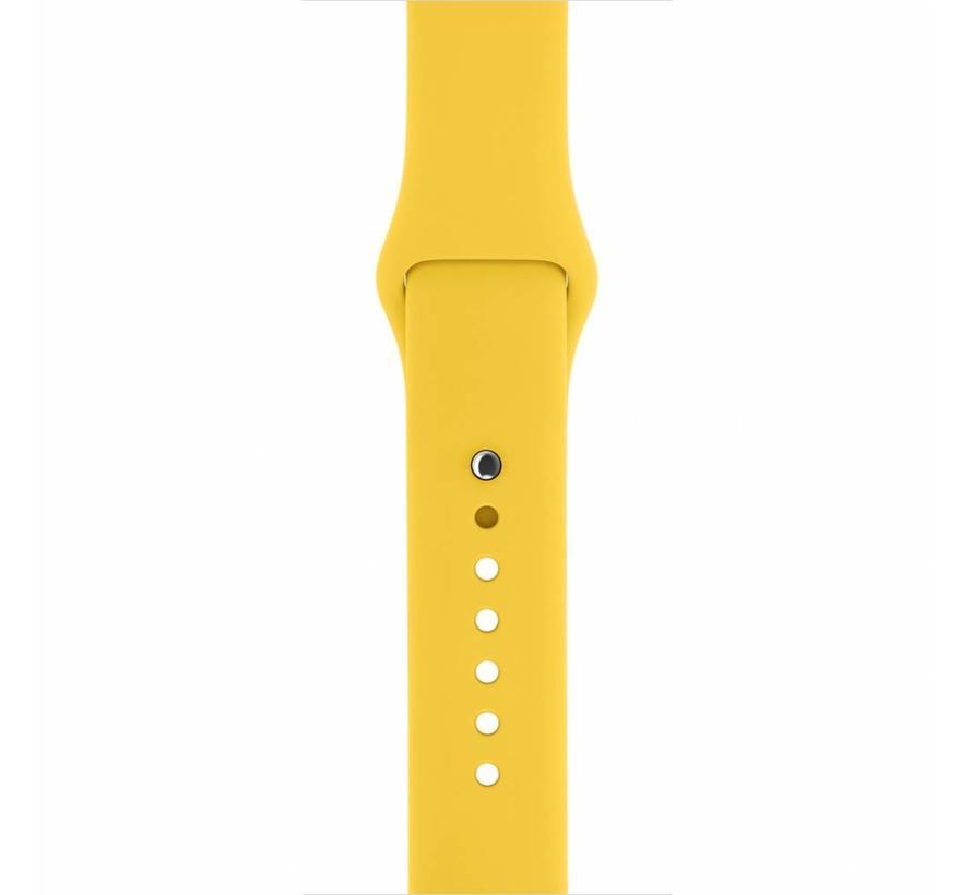 42mm Apple Watch geel sport bandje