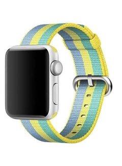 123Watches.nl 42mm Apple Watch pollen geweven nylon gesp bandje