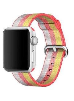 123Watches.nl 42mm Apple Watch red geweven nylon gesp bandje