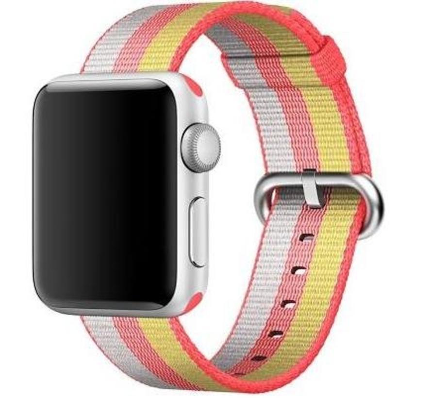 42mm Apple Watch red geweven nylon gesp bandje