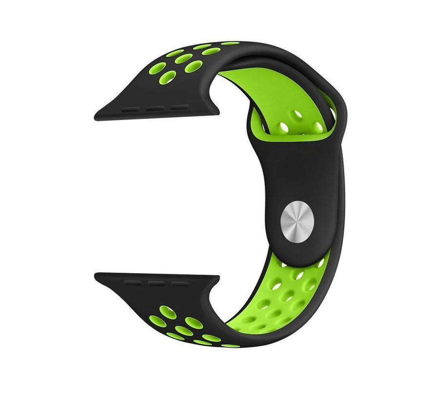 42mm Apple Watch zwart / groen sport bandje