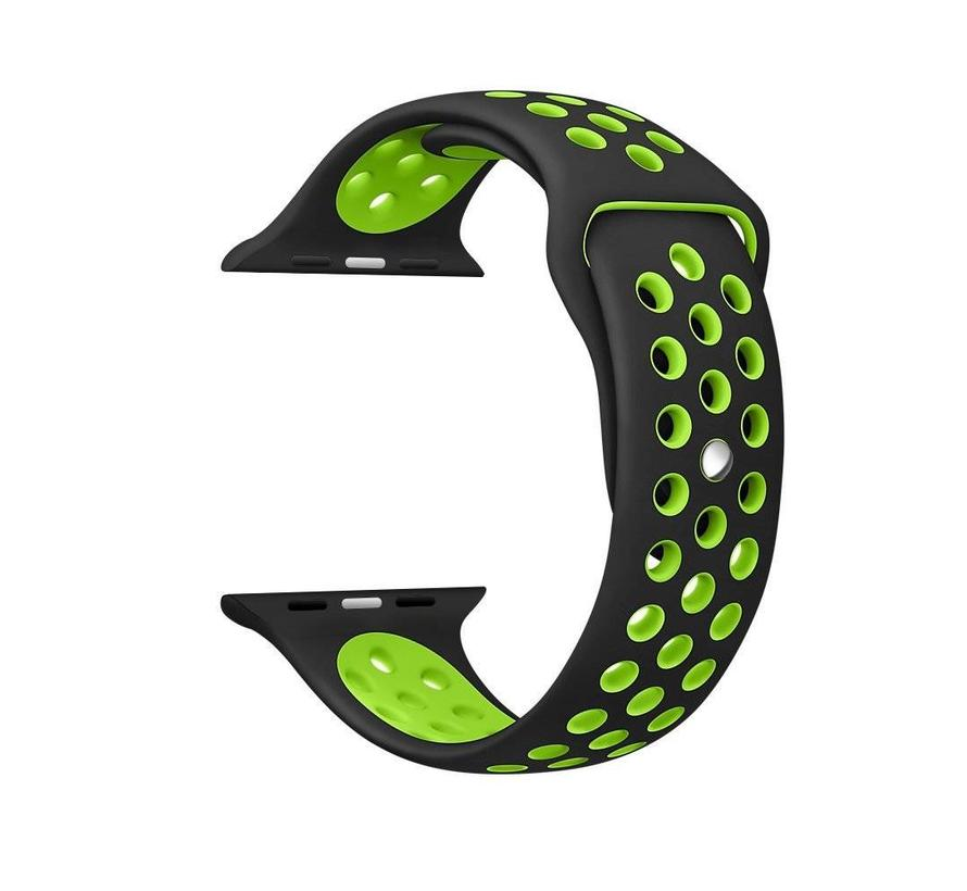 Apple watch sport bandje - zwart groen