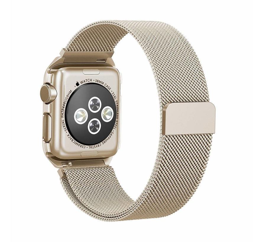42mm Apple Watch retro gouden milanese case bandje