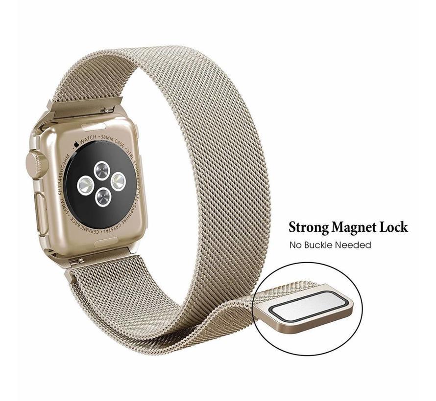 Apple watch milanese case band - retro goud