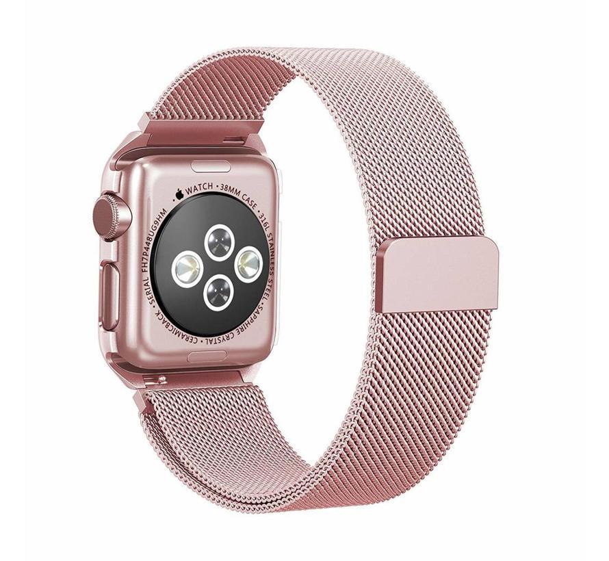 42mm Apple Watch roze milanese case bandje