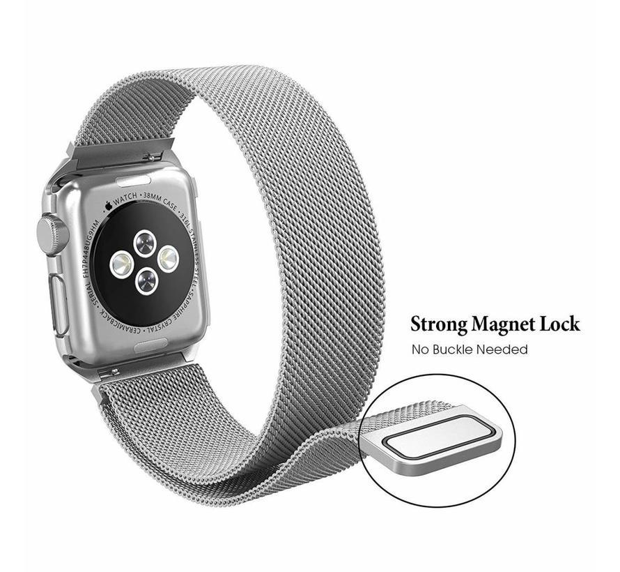 42mm Apple Watch zilveren milanese case bandje