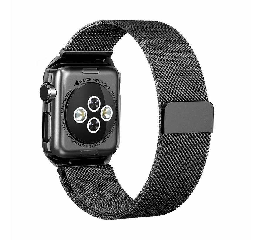 42mm Apple Watch zwarte milanese case bandje