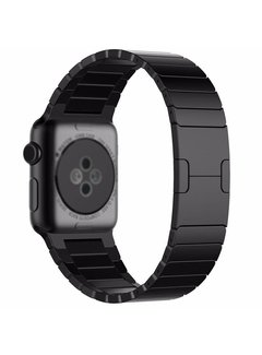 123Watches.nl Apple watch stalen schakel band - zwart