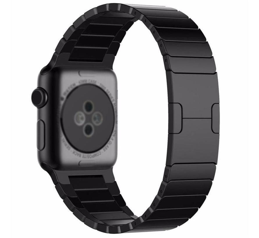 Apple watch stalen schakel band - zwart