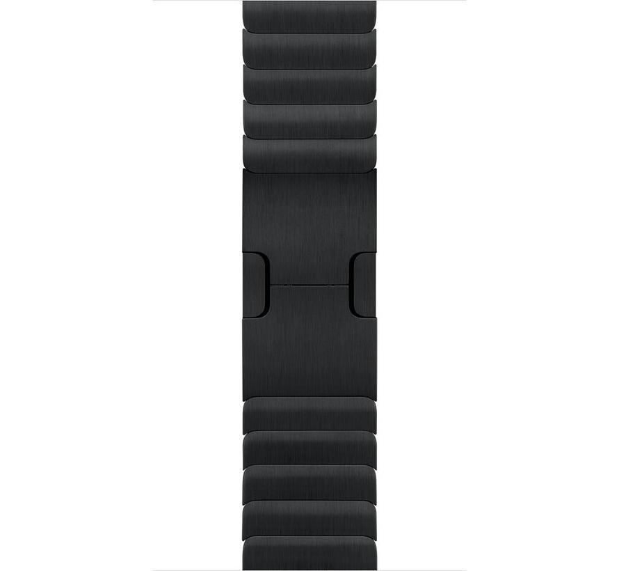 42mm Apple Watch zwarte stalen schakel bandje