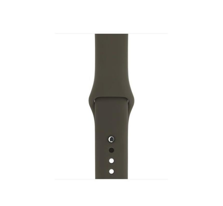 42mm Apple Watch dark olive sport bandje