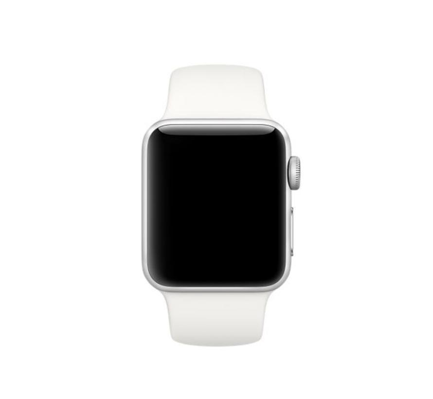 42mm Apple Watch soft white sport bandje