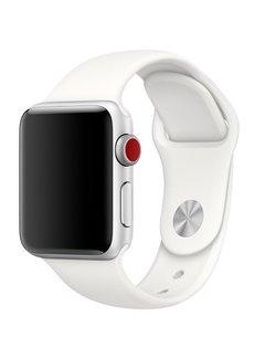 123Watches.nl 42mm Apple Watch soft white sport bandje