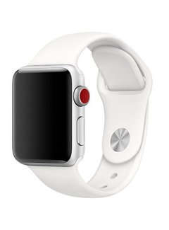 123Watches.nl Apple watch sport band - soft white