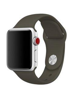 123Watches.nl 42mm Apple Watch dark olive sport bandje