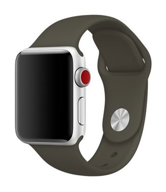 42mm Apple Watch dark olive sport bandje