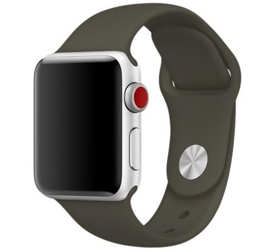 Apple watch sport band - donker olijf