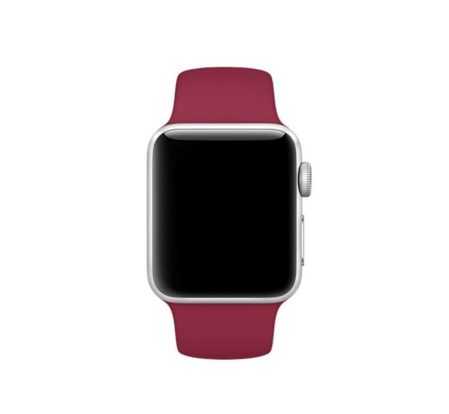 42mm Apple Watch rose rood sport bandje