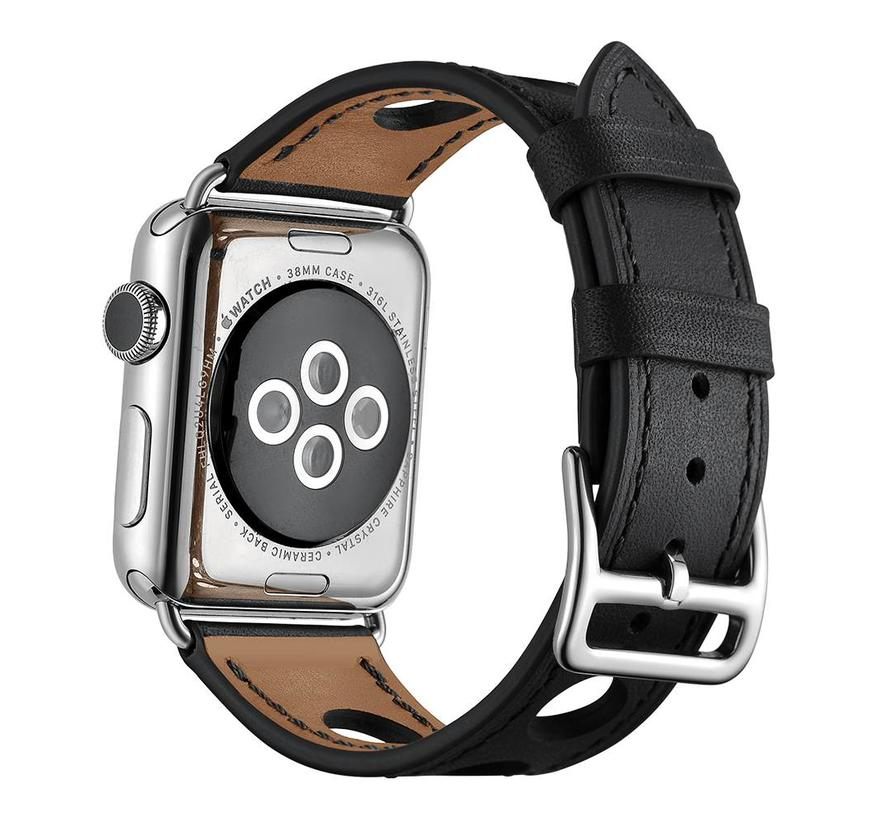 Apple watch leren hermes band - zwart