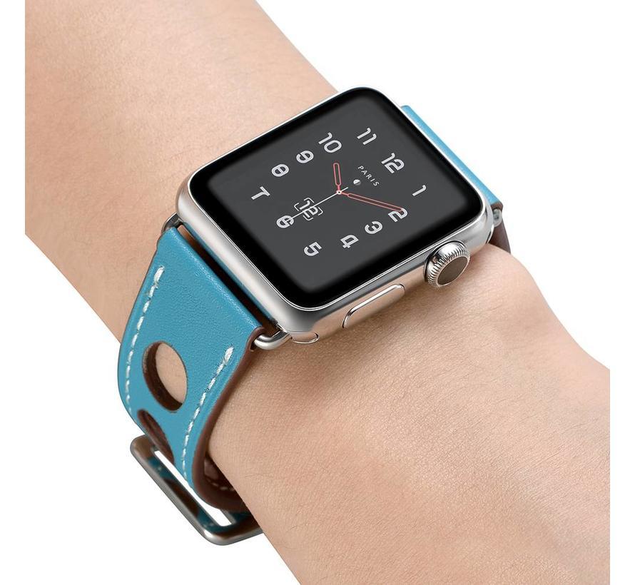 Apple watch leren hermes band - lichtblauw