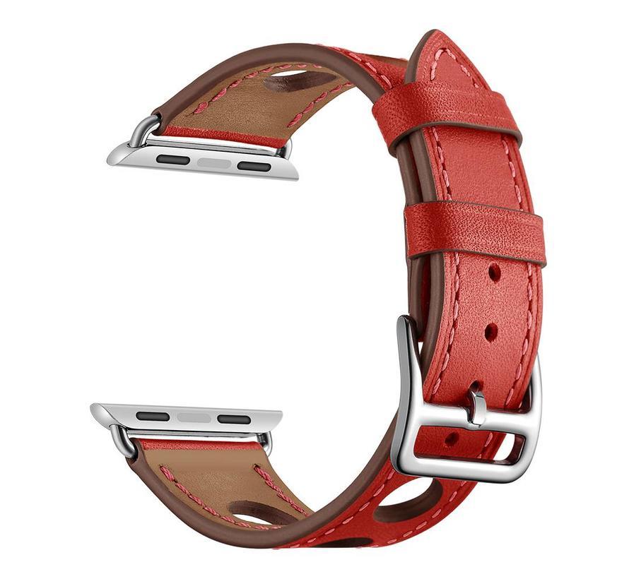 Apple watch leren hermes band - rood