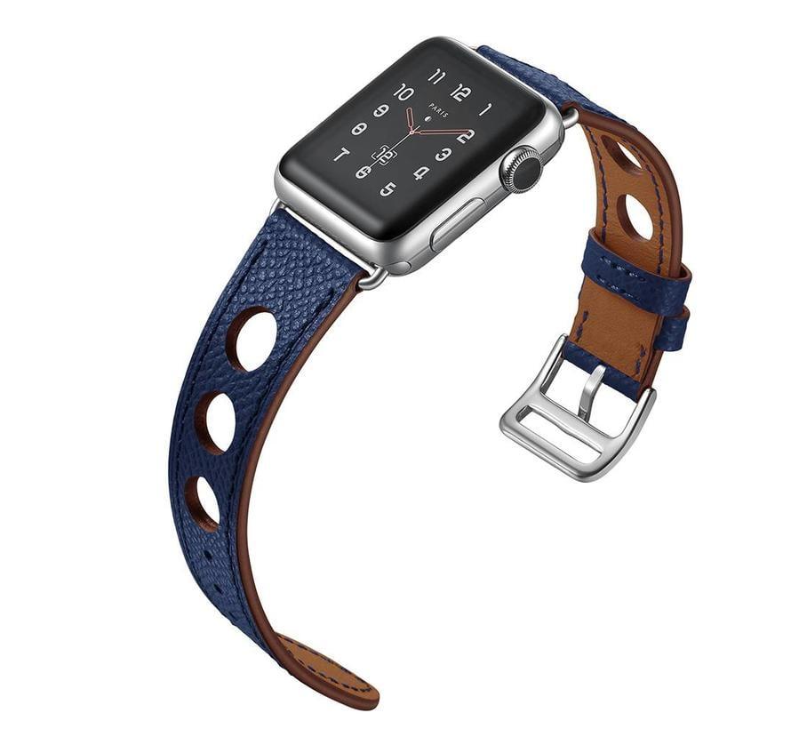 Apple watch leren hermes band - donkerblauw