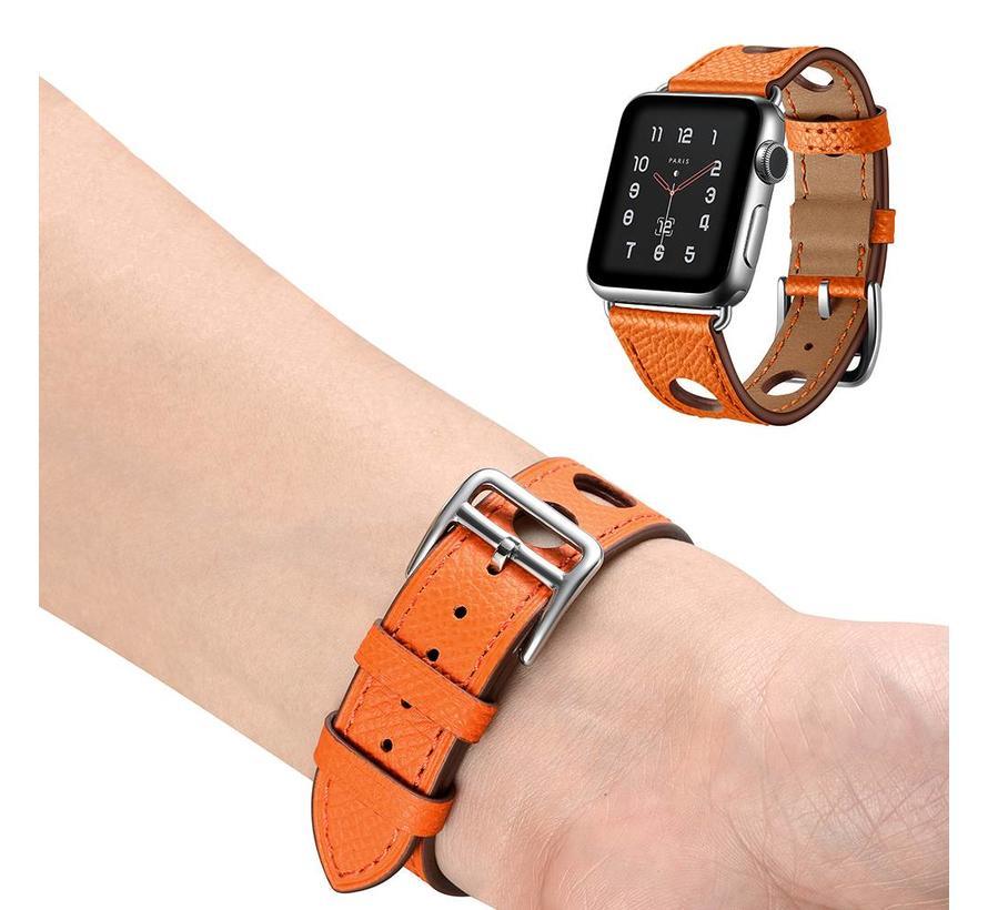 Apple watch leren hermes band - oranje