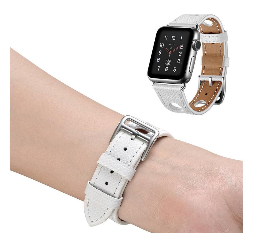 42mm Apple Watch wit lederen enkele tour hermes bandje