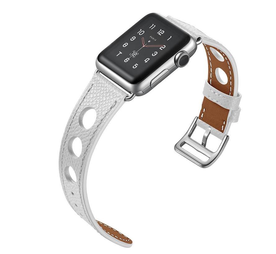 Apple watch leren hermes band - wit