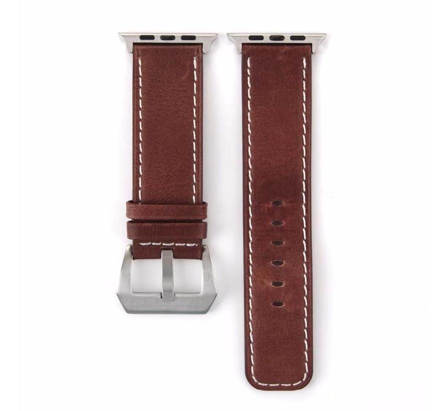 42mm Apple Watch Retro leren bruin bandje