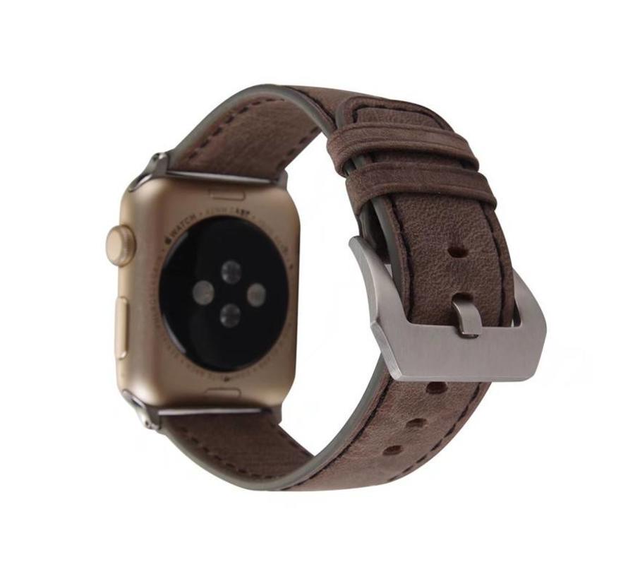 42mm Apple Watch Retro donker bruin leren bandje