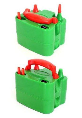 Ballonpomp Elektrisch oranje/groen
