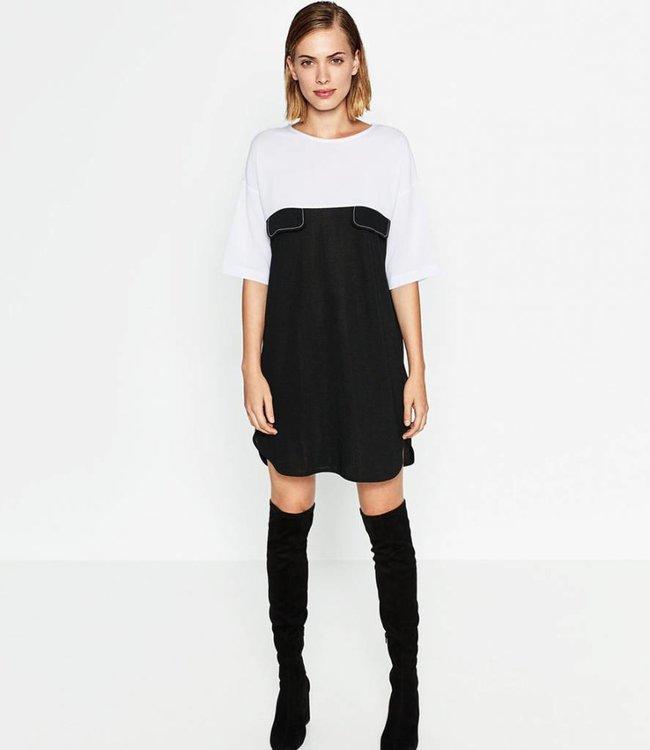 Zara Jurkje zwart/wit