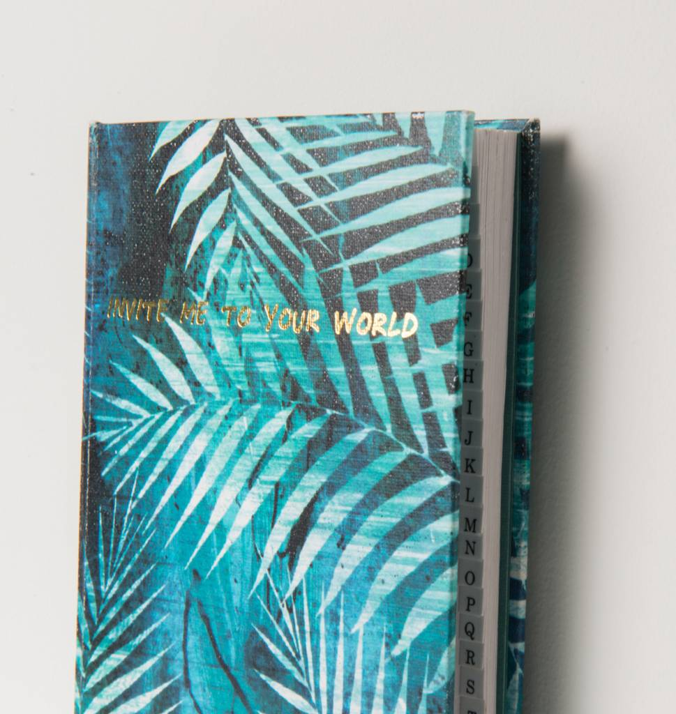 Address Book Jungle Leafs