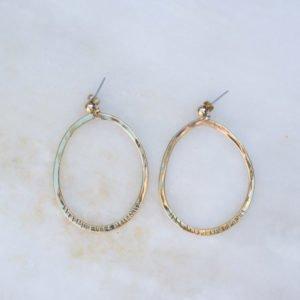 Earrings Bidens Creole - messing