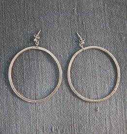 Bobini Roots Earring | Creole Bidens Silver