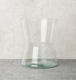 Vase Diabolo Recycled Glass