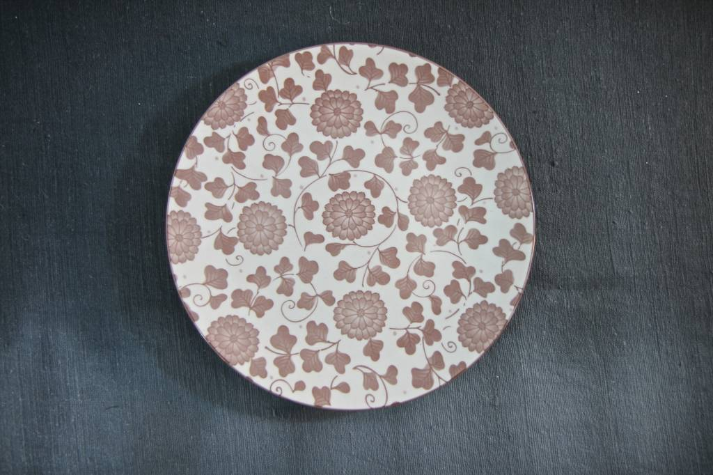 Plate  Pink Flowers