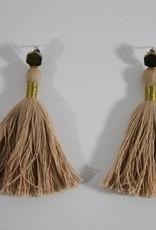 Earrings Tassel Pink