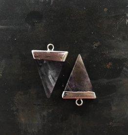 Oorbellen 'Triangle Purple'