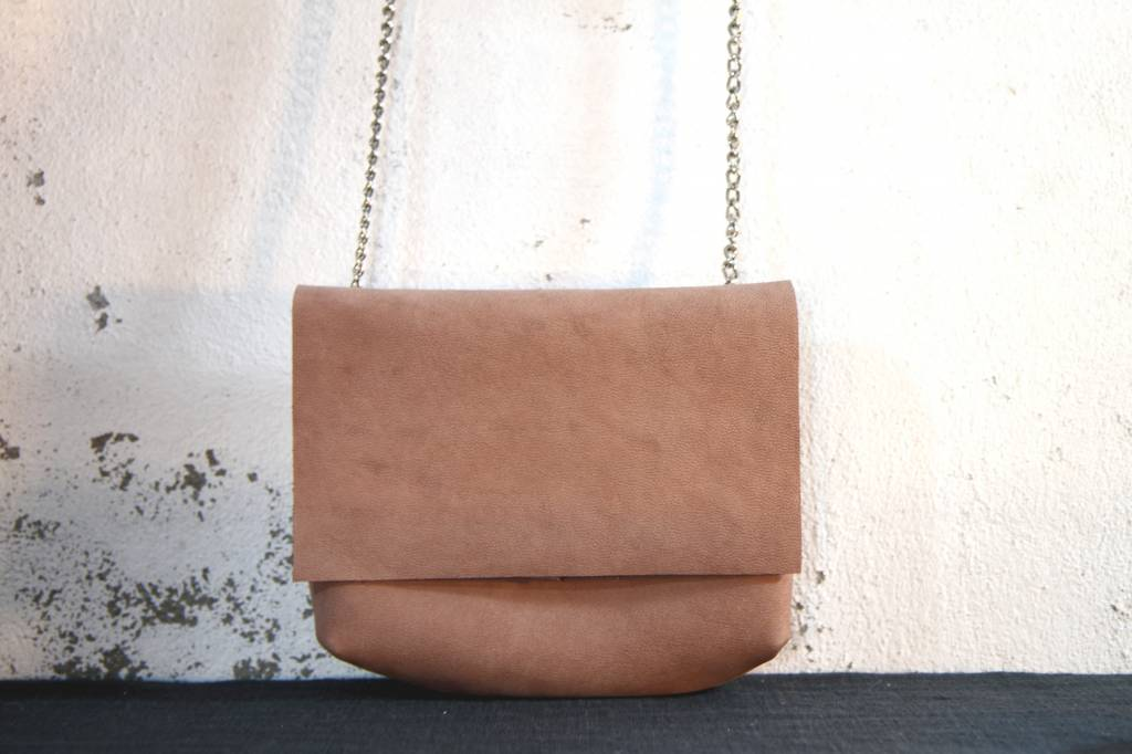 Oaks Chain Crossover Bag - Old Rose