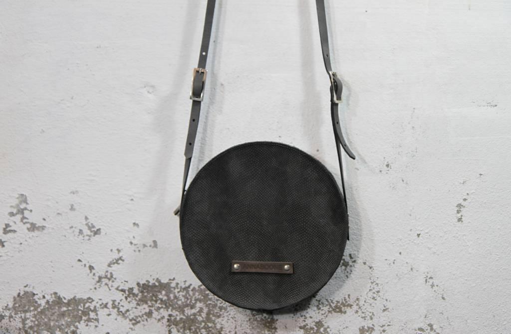 Round Bag Snake Grey
