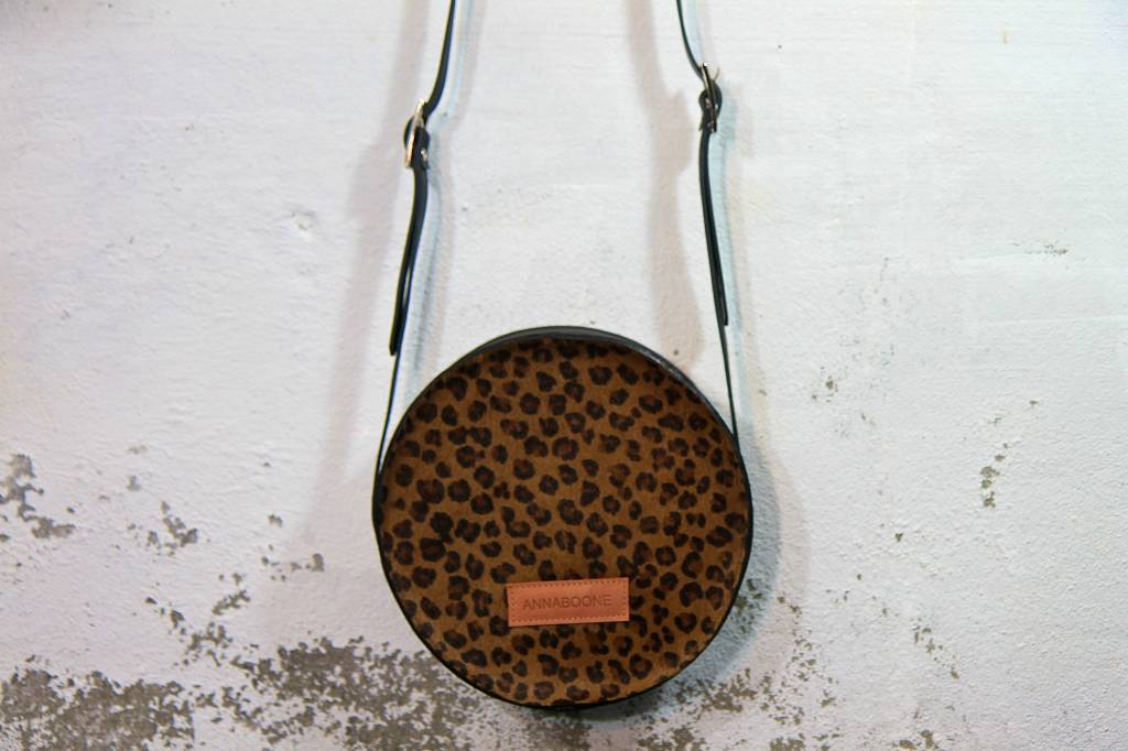 Round Bag - Dark Leopard