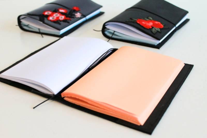 Anna Boone Notebook A6   Red Flower