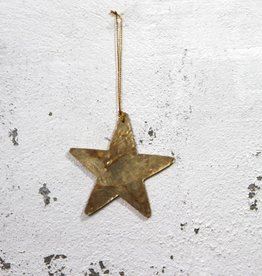 Christmas Hanger Star GOLD
