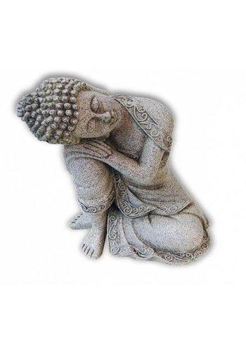 Yogi & Yogini naturals Rustende Boeddha steengrijs groter (19.5 cm)