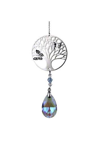 Yogi & Yogini naturals Kristallen met Tree of Life en druppel (violet)