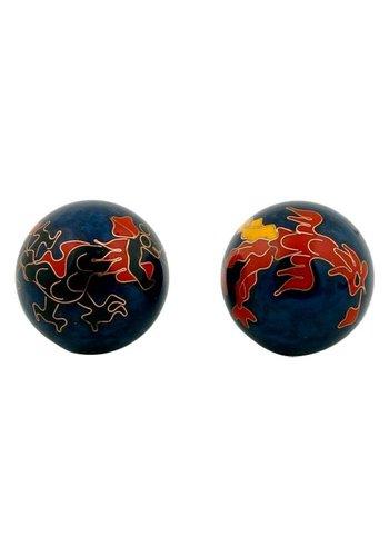 Yogi & Yogini naturals Meridiaankogels Draak & Phoenix donkerblauw (3,5 cm)